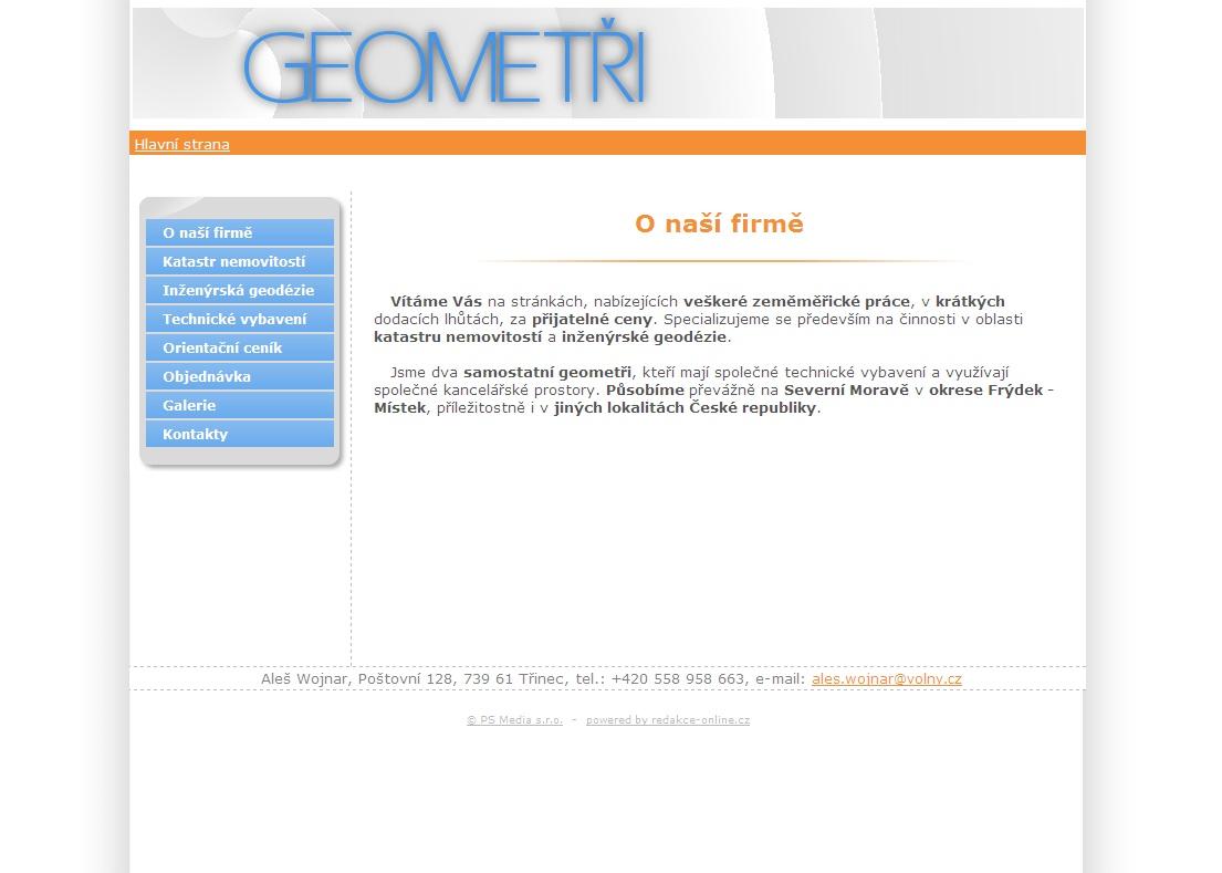 Specializujeme se především na činnosti v oblasti katastru nemovitostí a inženýrské geodézie.