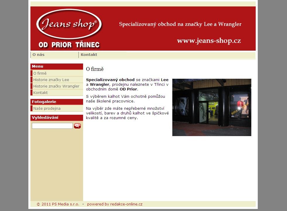 Specializovaný obchod se značkami Lee a Wrangler, prodejnu naleznete v Třinci v obchodním domě OD Prior.