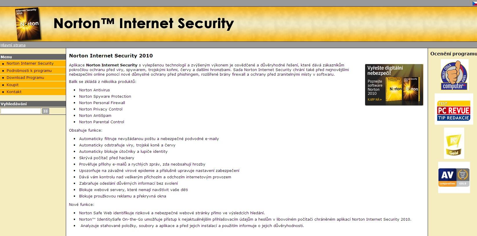 Aplikace Norton Internet Security s vylepšenou technologií a zvýšeným výkonem je osvědčené a důvěryhodné řešení, které dává zákazníkům pokročilou ochranu před viry, spywarem, trojskými koňmi, červy a dalšími hromzbami.