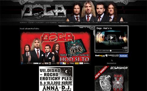 Oficiální stránky kapely Doga