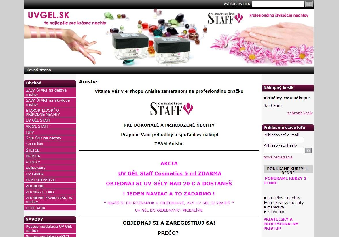 Vítame Vás v e-shopu Anishe zameranom na profesionálnu značku.