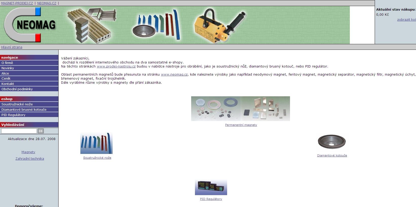 Nabídka nástrojů pro obrábění, jako jsou soustružnické nože, diamantové brusné kotouče, nebo PID regulátory.