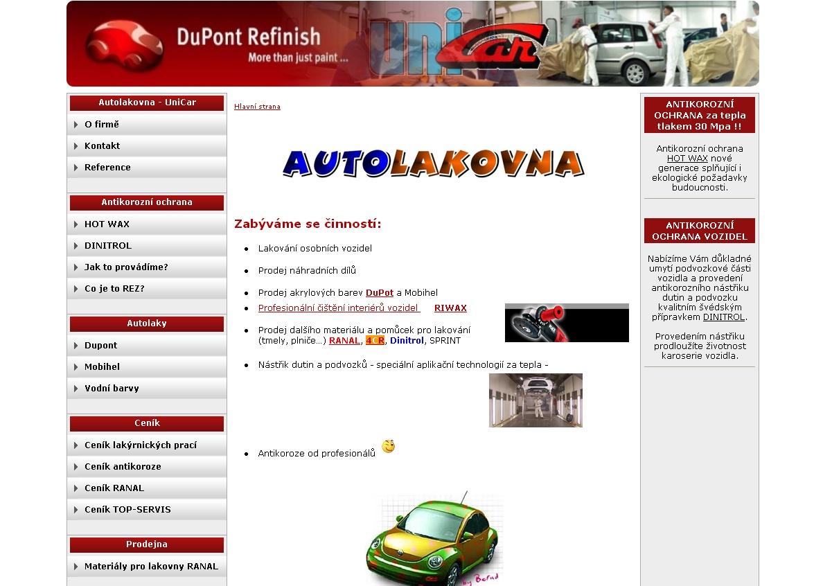 Zabýváme se činností: lakování osobních vozidel, prodej náhradních dílů, prodej akrylových barev DuPot a Mobihel, prodej nářadí el. FLEX, Starmix...