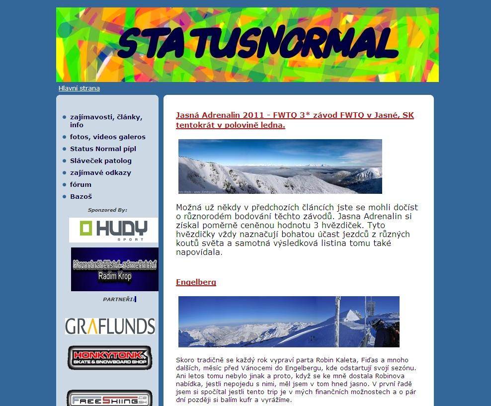 web o volném lyžování...