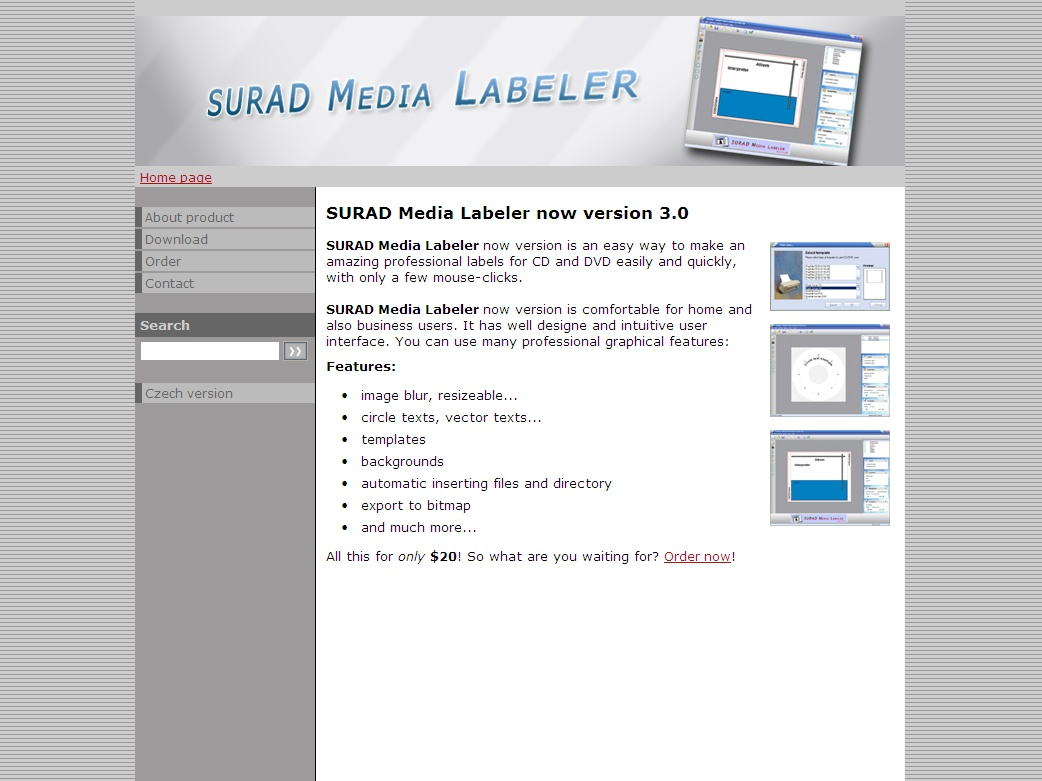 SURAD Media Labeler now version is an easy way to make an amazing professional labels for CD and DVD easily and quickly, with only a few mouse-clicks.